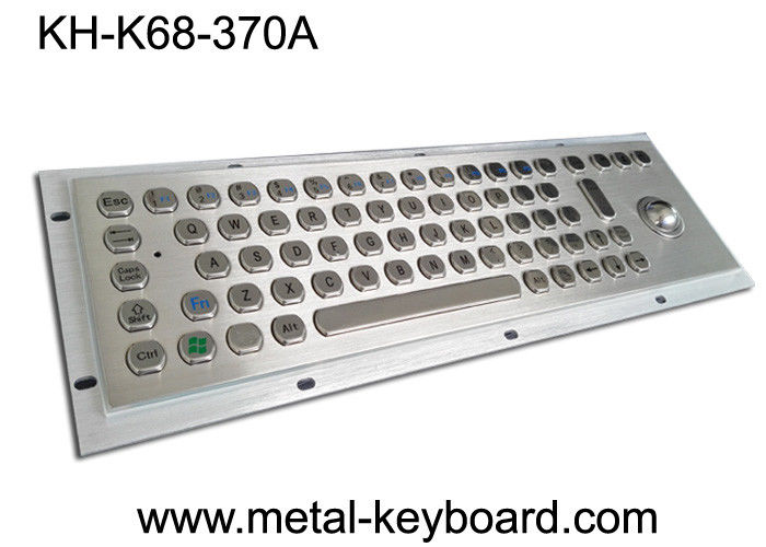 Ruggedized Industrial Keyboard with Trackball , SS Stainless Steel Keyboard