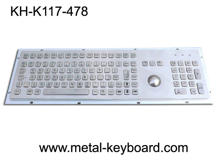 Vandal - Resistance IP65 Industrial PC Keyboard with 25MM Metal Trackball