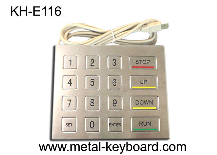 Stainless Steel Panel Mount Kiosk Metal Keypad with USB Interface Vandal Proof