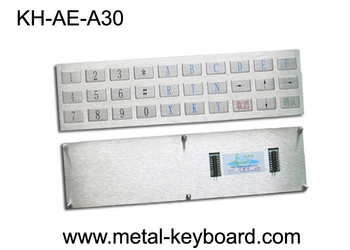 Water proof Outdoor Kiosk Industrial Metal Keyboard with 30 Keys Anti - Rusty