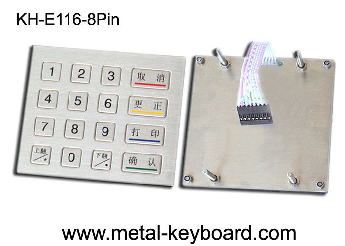 Ruggedized Kiosk Metal keypad 4 X 4 Matrix with IP 65 Water - proof