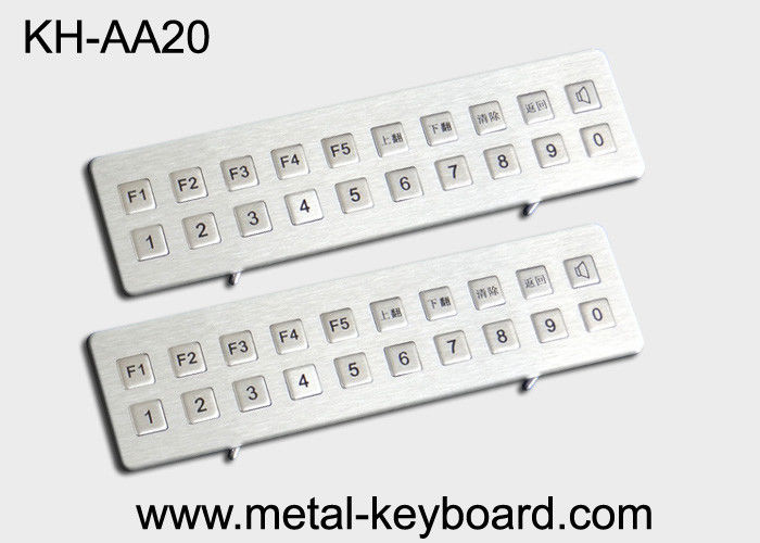 Kiosk Stainless steel Keyboard Vandal - proof , long life ruggedized keyboard