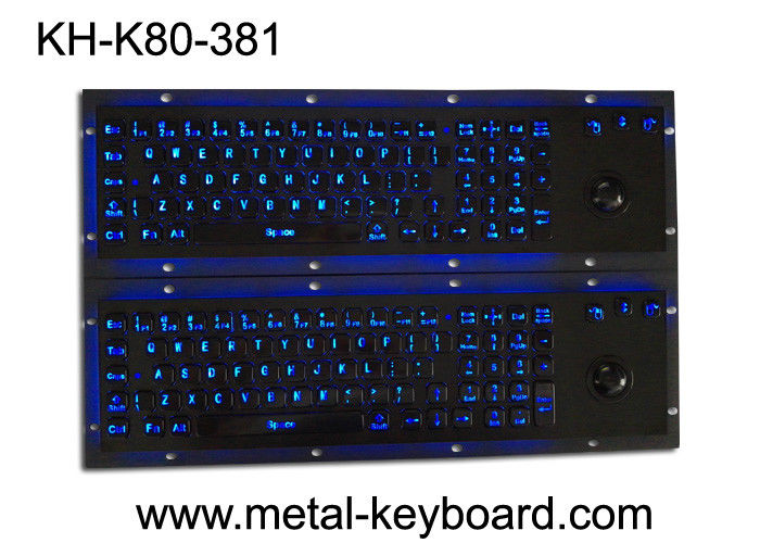 Illuminant waterproof SS Industrial Metal Keyboard with Trackball  pointing device