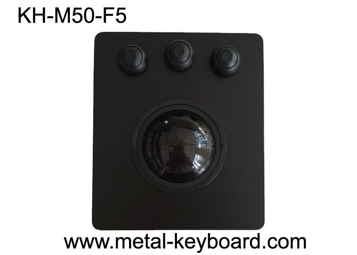 Stainless Steel Industrial Trackball Mouse Waterproof Front Panel Mounting Solution