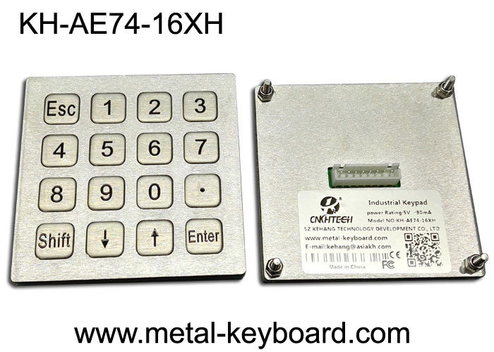 4x4 Layout Waterproof Industrial PC Keyboard Matrix / USB Port For Kiosk / Fuel / Gas Station