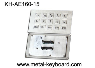 Trung Quốc Panel Mount Industrial Metal Keyboard Stainless steel for Mine Machine nhà máy sản xuất