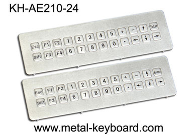 Vandal resistant Industrial Metal Keyboard , IP65 ss keyboard Water proof long life