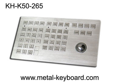 Customized Panel Mount Keyboards in Metal , Marine Keyboard with Track ball Metal